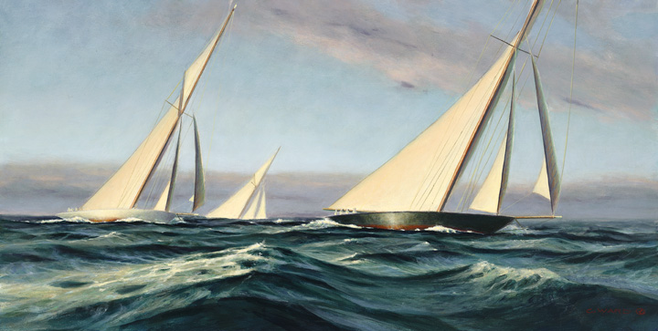 Building Seas, study, Maritime Painting by Christopher James Ward