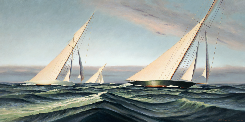 Buidling Seas, Painting by Christopher James Ward