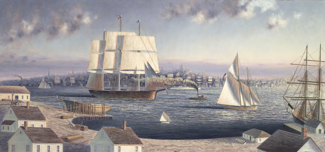 View From Cape Elizabeth, Portland Maine, Painting by Christopher James Ward